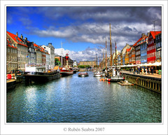 * Port of Nyhavn * (*atrium09) Tags: travel topf25 colors clouds copenhagen denmark boats nyhavn topf50 topf75 bravo europe olympus danmark hdr dinamarca kbenhavn danemark copenhague photomatix atrium09 anawesomeshot goldenphotographer megashot rubenseabra thegoldendreams
