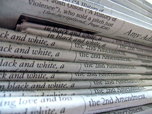 stack of newspapers