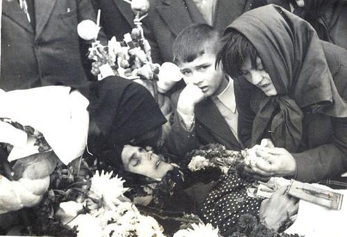 Vasile Filat la moartea mamei lui
