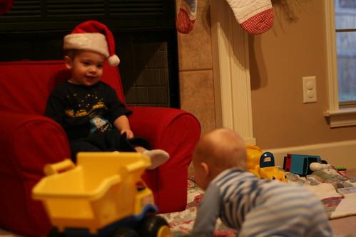 Eli's first visit to Santa