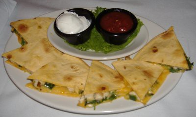 Dave & Buster's - Grilled Chicken Quesadillas