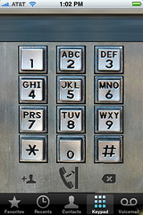 How do I change the dialer on my iPhone?