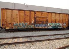 PLEK DELTA TAZER (TRUE 2 DEATH) Tags: railroad streetart train graffiti graf delta trains railcar boxcar wai railfan freight cbs 2007 tazer uti plek tgf benching