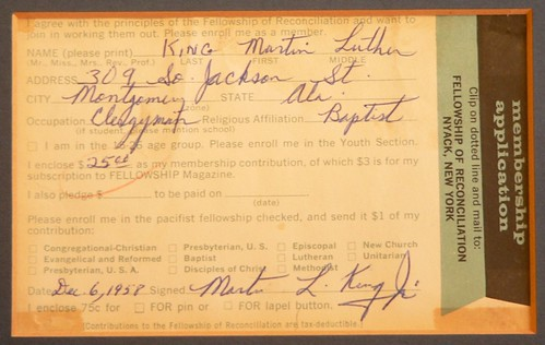 [MLK membership card]