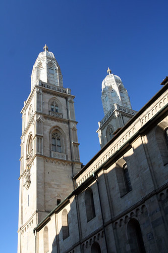 Grossmunster church towers
