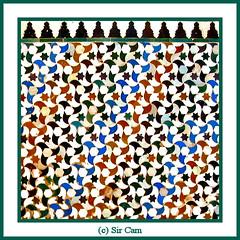 Alhambra art (Sir Cam) Tags: geometric spain patterns andalucia espana alhambra moorish granada moors muslims islamic arabs patiodelosarrayanes courtofthemyrtles micheo sircam mywinners