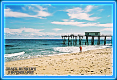 The Beautiful Ocean Grove (TrackRunner09) Tags: beach photoshop frames fishing fisherman quiet wave pole