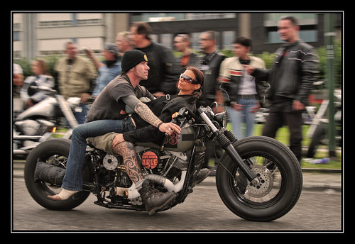 Unusual Way To Ride A Custom Harley Shovelhead