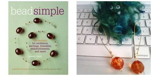 Bead Simple event at Powell's Books - make your own earrings!