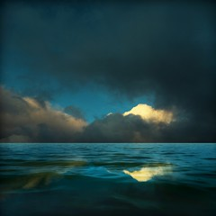 Seascaping (Olli Keklinen) Tags: sea seascape color reflection water photoshop dark square nikon scenery 100v10f d200 2008 palabra 500x500 bsquare ok6 aplusphoto ollik elitephotography 20080402