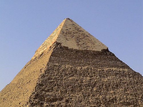 Las pir mides de giza for Interior piramide keops
