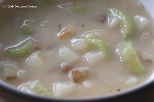 Creamy Potato and Celery Soup: In the Bowl