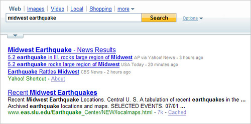 Yahoo Quake Results