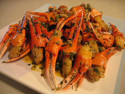 Oven-roasted snow crab
