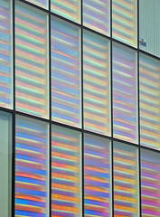 broken symmetry (JudyGr) Tags: windows england abstract london pattern colours geometry award social explore architect housing guesswherelondon londonguessed peabody riba newham gwl guessedbybenpatio dissymmetry allbutone niallmclaughlin haphazart