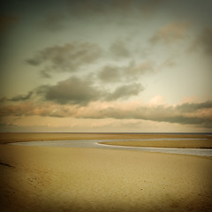 Quiet time (IrenaS) Tags: ocean sea france beach clouds sand peaceful calm atlantic