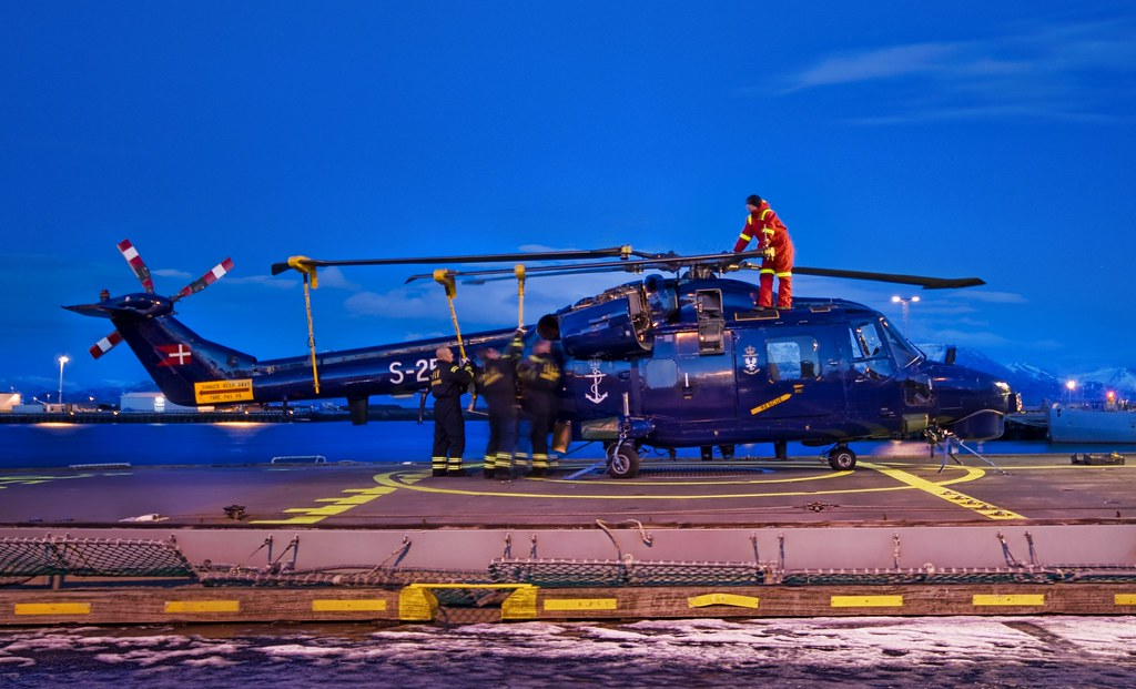 Securing the Icelandic Chopper at Dusk