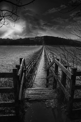 Long path (Photography by Peter Stanford) Tags: black white mono creative professional stanford dalgety bay dunfermline fife scotland uk gtb farm long path fence artistic winner competition totalphoto