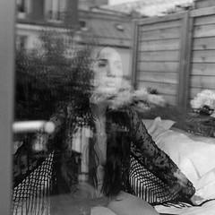 Portrait hotel : Twenty-fifth room V (lizardking_cda) Tags: hasselblad medium moyen format film analog ilford delta3200professionaldp3200 paris france girl chick chica fille woman femme mujer portrait fashion sensuelle nue naked nude topless beautiful belle eoshe chercherlafemme shooting bedroom lit bed hotel dessous underwear sexy window fenêtre mirror miroir reflet reflection bw nb terrace terrasse garden jardin argentique sensuel love amour butt tits fesse tatouage tattoo sex lolita glamour breast mood melancholy mélancolie legs jambes lingerie intimacy romantic