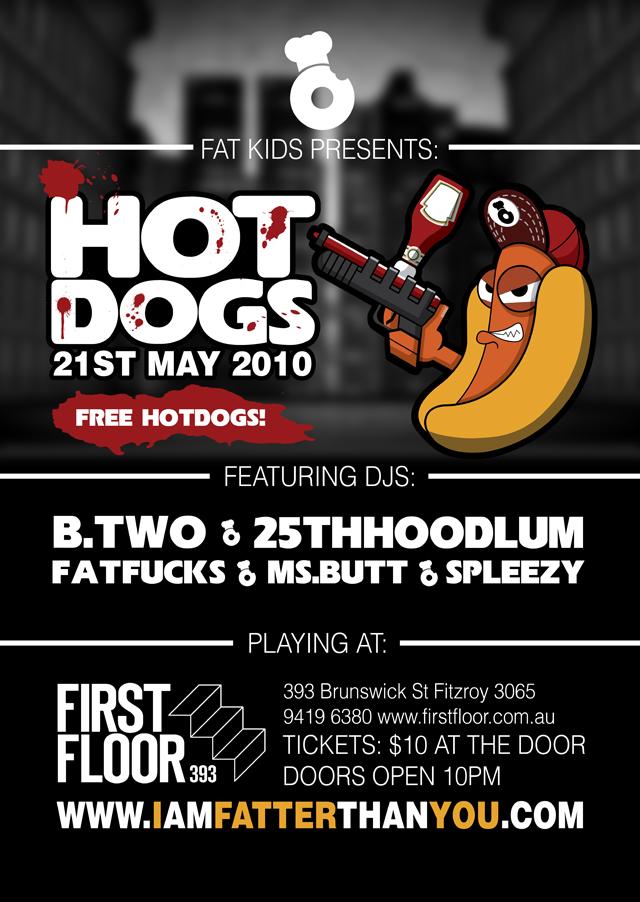 hotdog poster artwork_gangsta hotdog_v3_640pxl