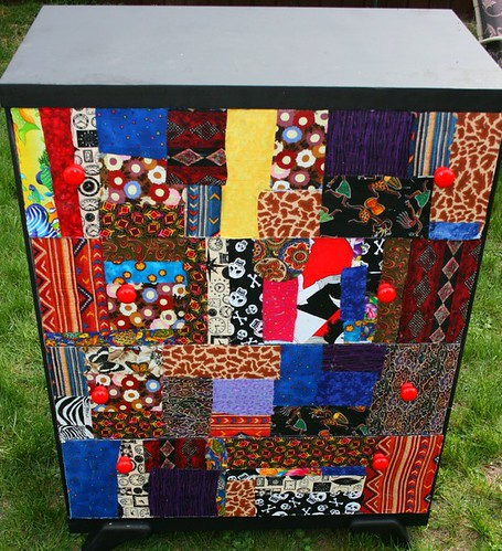 Four Drawer Dresser - Patchwork Theme by Rick Cheadle Art and Designs