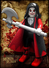 Morte Rossa (Morgan190) Tags: halloween skeleton death skull scary blood poem lego reaper creepy morte morbid horror axe macabre minifig custom poe playmobil edgarallenpoe m19 minifigure reddeath morgan19 morgan190