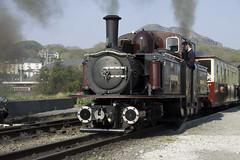 Merddin Emrys Heavy load May 2011 (Martin Pritchard) Tags: wales train north cymru railway gravity slate cob gauge narrow ffestiniog wagons gwynedd porthmadog northwales festiniog portmadoc tremadoc