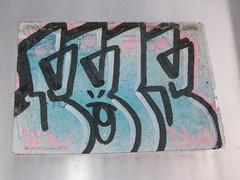 P5241742 (]L ][ /A\ ]M[) Tags: streetart oregon portland graffiti sticker glue illegal slap