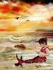 .The little Mermaid. (mylaphotography) Tags: art fairytale graphicart painting digitalart bubbles fantasy mermaid corelpainter corel rahi childphotography jaber superbmasterpiece mylaphotography michiganstudiophotography fairytalephotography