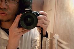 Clumsy Boy (dzgnboy) Tags: wedding selfportrait toronto bathroom mirror stclair mark sophie moi lauder regalheightsbistro camerapron dgnboy marksophiewedding432