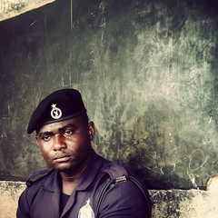 GP - ghana police (^ mAyAkA ^) Tags: africa portrait man uniform order village duty police security ghana lawandorder lawenforcement gp bicyclerace policeman 2b confidence capecoast mewe supersho naturalbeautyportraiture wawase