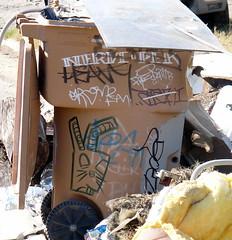graffiti on garbage
