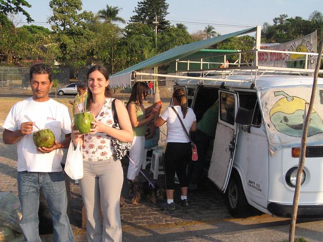 We bought the Coconut in that van