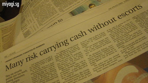 "So, the risk is ""carrying cash without escorts"". What's the cause?"