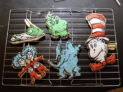 Dr. Seuss Cookies (nikkicookiebaker) Tags: cookies grinch horton thing1 thing2 decorated catinthehat greeneggsham