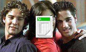 David Bisbal, David Bustamante y Rosa López tapada por un documento de Microsoft Excel