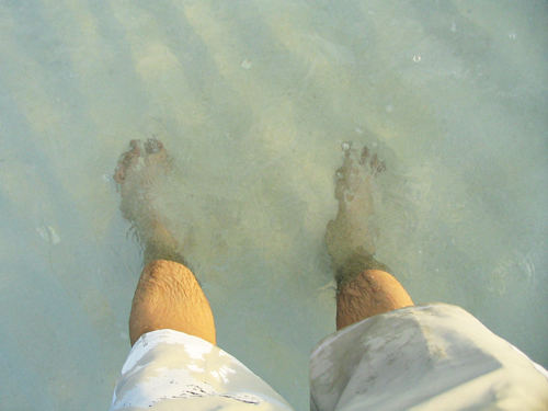Boracay - my feet on the beach