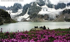 Unforgetable view of Chitta Katha lake found in Shounter Valley in Azad Kashmir... 13,200 Feet ASL