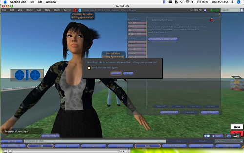 Second Life: Making Clothes: 5 - Automatically Wear Garment
