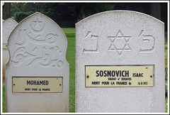 mohamed et isaac:                mort pour la france (japanese forms) Tags: muslim jew ww1 tombstones musulman juif mortpourlafrance