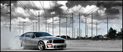 Roush Mustang on Custom SevasForged R5 (GREATONE!) Tags: sky ford car clouds silver photography nikon power florida miami smoke wheels sigma automotive william tires powerlines pony chrome mia burnout mustang d200 gt custom rims 2008 fla stern f28 forged roush r5 2470mm sevas