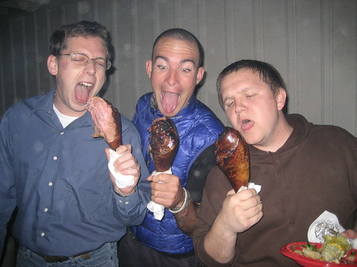Turkey legs at a party in Austin, Texas, USA