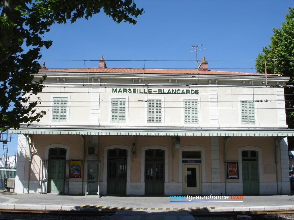 Le bâtiment voyageurs de Marseille-Blancarde situé près du Boulevard Chave