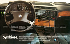 Reklame BMW 7er E23 (1980) (jens.lilienthal) Tags: auto old classic cars car vintage advertising ad cockpit voiture advertisement advert older bmw autos reklame voitures 745 anzeige lenkrad 745i 7er 732 735 728 e23 735i mittelkonsole 728i 732i wwerbung