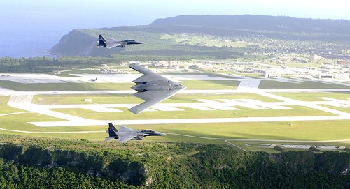 B-2 and F-15s over Guam
