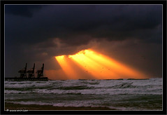 Let there be light   (xnir) Tags: trip travel winter light sunset storm station landscape israel photo scenery power view great best explore be there  soe hadera deniro nir  benyosef wwwxnircom xnir diamondclassphotographer craneslet  israel  photoxnirgmailcom