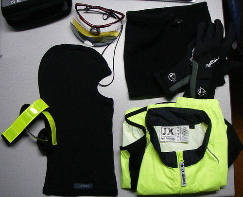 Cold night cycling gear - a bit more detail
