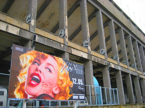 Minogue poster at Strahov