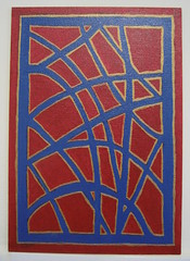 Red & Blue Deco Panel 1