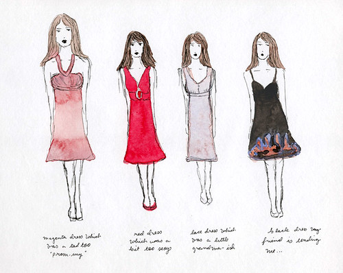 day 17 of 365 Sketch: dresses